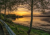 as the sun goes down (MC Snapper78) Tags: scotland nikond3300 scenery landscape sunset kelburn timberponds riverclyde inverclyde marilynconnor