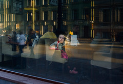Child and City (Julysha) Tags: peter stpetersburg russia april spring 2016 d7100 acr nikkor2418 child city cafe window reflection nevskyprospect people street