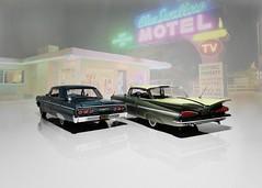 1959 & 1964 Chevrolet Impala Hardtop Coupe - West Coast Precision Miniatures 1:24 (BlueAtlantic38) Tags: usa americancar scalemodel hobby chevrolet impala 1964 1959 wcpm westcoastprecisionminiatures 124 gm v8