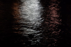 Reflecting on Amsterdam (steve_whitmarsh) Tags: amsterdam netherlands city urban night lights water canal abstract reflection