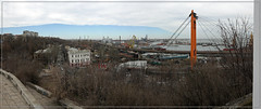Вид на Одесский порт (vikkay) Tags: одесса порт панорама пейзаж эстакада мост море краны корабль улица весна перспектива