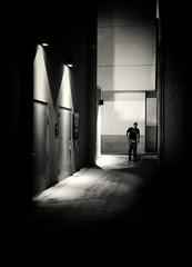 untitled--174 (Stevenchen912) Tags: streetphoto streetscene streetportrait geometry geo dark contrast contrst decisivemoment depth desicive blackwhite bw candid cadid lowlight alone