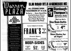 Warren Plaza advert, January 7th, 1967. Top half. (Downtown Warren History) Tags: warrenohio elm road plaza trumbull county retail advertising ads advert