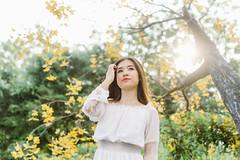 DSC_0139 (tungson.nguyen) Tags: girl woman portrait white dress film garden sun