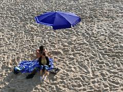 lean on me (auroradawn61) Tags: bornemouth dorset uk england may 2018 lumixlx100 sundayevening seaside coast couple umbrella blue