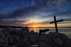 The End (malioli) Tags: cross dog sun sunset dusk sky clouds adriatic croatia rock