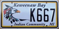 Keweenaw Bay Ojibwa License Plate (Suko's License Plates) Tags: handicapped keweenaw bay ojibwa keweenawbayojibwa indian tribe nation tribal native licenseplate matricula placa patente kennzeichen nummerschild targa targhe plaqueimmatriculation plaque numbertag license plate band nativeamericanindians