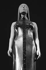 Evening dress by Gianni Versace. 'Heavenly Bodies: Fashion and the Catholic Imagination' exhibition, Metropolitan Museum of Art, New York (Czech Traveller) Tags: versace heavenlybodiesexhibition metropolitanmuseumofart newyork eveningdress