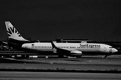 TC-SEN - SunExpress - Boeing 737-8HC (b_kohnert) Tags: blackandwhite schwarzweis monochrome einfarbig aircraft boeing737