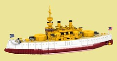USS Indiana (Thomas of Tortuga) Tags: lego ldd predreadnought battleship us navy indiana oregon iowa