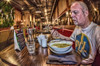 Green Thai Curry (D-W-J-S) Tags: flickr 2018bpe17winchester fractalius hdr fisheye 1017mm tokina canon 100d self selfie portrait curry food restaurant eating 2018229midland london2018