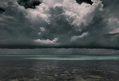 Murky Mood (louise peters) Tags: clouds rainclouds regenwolken sky wolken wolkenlucht seascape sea zee zeegezicht beach strand water rainyreason regenseizoen ocean oceaan indianocean indischeoceaan pingwe zanzibar tanzania africa