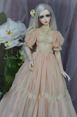 Peach Blossom (AyuAna) Tags: bjd ball jointed doll dollfie ayuana design minidesign handmade ooak clothing clothes dress set outfit fashion couture historical secession edwardian style sd sd13 sd10 size gown robe vetement sewing sewingfordolls ordoll eris hybrid sadol love60 whiteskin
