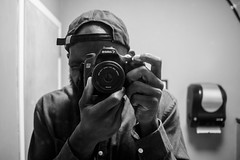 Couple of Selfies (Brother Christopher) Tags: brotherchris bnw photographer artist selfie mirror canon 70d monochrome monochromatic nyc explore inexplore bored vanity beard melanin bathroom break work studio thebronx handsome people person human humanity