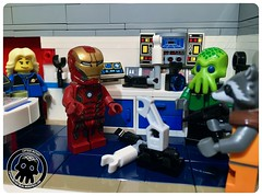 47-12 The Best Engineers in the Galaxy (captainmutant) Tags: afol classic space lego ideas legospace legography photography minifig minifigs minifigure minifigures moc sciencefiction science fiction scifi exploration brickography toy custom iron man rocket raccoon