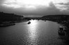 Praha (Philip@Tamsui) Tags: ricoh grdigital grd grii blackandwhite monochrome bw 黑白 praha praque czech riverside river sky