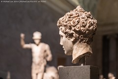 Marble Bust (20180512-DSC06163) (Michael.Lee.Pics.NYC) Tags: newyork metropolitanmuseumofart gallery153 greekandromanart sculpture bust head marble art museum bokeh architecture sony a7rm2 fe24105mmf4g