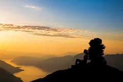 Sunset girl. (Ole Erik Loe) Tags: sunset girl sky mountain landscape norge norway sunndal sunndalsøra pure beauty