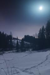 . (Lauri S Laurén) Tags: landscape art artphoto photoart night nightphoto moon suomi finland nurmijärvi myllykoski winter talvi valley vantaanjoki meadow snow lumi river rapid path forest frost north soft laurilaurén longexposure