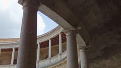 DSCF5598 Palacio de Carlos V, Alhambra, Granada (Thomas The Baguette) Tags: granada spain granadaspain espagne espana alhambra nesrid nesridpalace patiodelosleones lionfountain comares moorish fountains architecture gardens machuca alcazaba