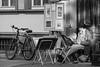 Artist in residence (John fae Fife) Tags: fujifilmx noiretblanc streetscene street germany bw nb streetartist monochrome artist blackandwhite xe3 portrait badenwürttemberg heidelberg