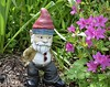 Keeping it Cool (mmollame18) Tags: gnome red hat garden flower purple natural beard nikon d5100