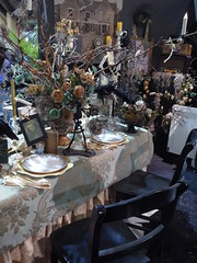 Chicago, Navy Pier, Chicago Flower and Garden Show, Dinner Table Setting (Mary Warren 10.7+ Million Views) Tags: chicago navypier chicagoflowerandgardenshow nature flora table dinner roses candles