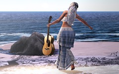 Go confidently in the direction of your dreams (AnaLu Cartier) Tags: phoenixhair collabor88 maitreya summer beach sl secondlife justbecause letre