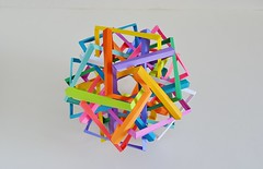 Fifteen Interlocking Hyperboloidal Rectangles (Byriah Loper) (Byriah Loper) Tags: origami origamimodular modularorigami modular byriahloper byriah compound complex copypaper stardream paperfolding paper polygon polyhedron