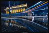 A Streetcar Laced with Fire (Ilan Shacham) Tags: cityscape view scenic light night lighttrail fineart fineartphotography flow beauty rain reflection architecture building bordeaux france