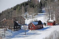 Vintage (Leifskandsen) Tags: farm vintage snow winter buskerud wood red cold santa camera canon living leifskandsen norway skandsenimages scandinavia skandsen