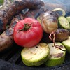 barbecue at the cottage (Sankab) Tags: bbq russianbbq barbecue meat grill firewood kitchen deliciously potato zucchini dinner village
