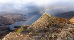 A'an-Archic (http://www.richardfoxphotography.com) Tags: scotland scottishhighlands trossachs ben benaan mountain peak rainbow loch lochkatrine summit granite outdoors sky sun