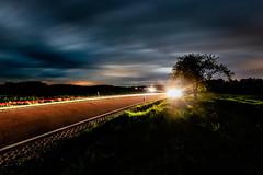Dance of Light (M-Z-Photo) Tags: buchamwald bayern deutschland de strase lichtspuren nachtaufnahme langzeitbelichtung landschaft natur lichter wolken