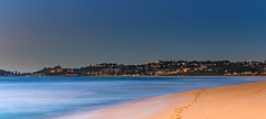 Panoramic Seascape and Suburban Headland (Merrillie) Tags: daybreak wamberalbeach sand sunrise panorama nature australia terrigal surf panoramic wamberal centralcoast newsouthwales waves earlymorning nsw morning beach ocean sea sky landscape coastal seascape outdoors waterscape dawn coast water seaside