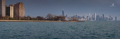 Mirage (Zouhair Lhaloui) Tags: panorama photostitch cityscapes architecture skyline highrises water lake lakefront waterfront seascapes buildings trees outdoor noperson zouhairlhaloui 2018 illinois usa windycity chicago