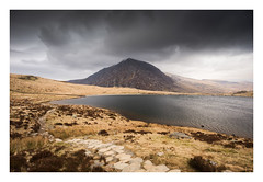 Pen yr Ole Wen - March 21st (Edd Allen) Tags: wind clouds sun landscape water seafront bucolic atmopshere atmopheric nikond610 uk sky outdoor rocks storm cliffs winter cold wales northwales llynogwen penyrolewen mountain lake sunset adventure hiking