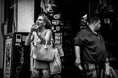 Smoke, please? (damar47) Tags: holland netherlands paesibassi olanda travel travelphotography trip roadtrip pentax pentaxian k30 pentaxiani pentaxart reflex amsterdam urban city urbanphotography walkingaround citycenter onthestreet street blackandwhite blackwhite bnw biancoenero monotone monoart monochrome streetphotography streetstyle people strangers candid lightroom adobelightroom lr5 ricohpentax