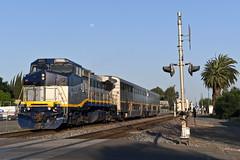 2051 plus 2 (caltrain927) Tags: bnsf railway burlington northern santa fe amtrak california san joaquin ge b328wh p328wh passenger train merced ca