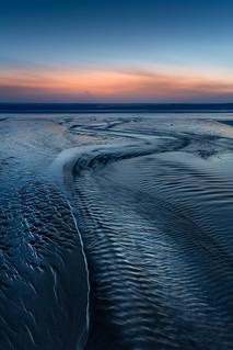 Dusk, Porthcotham Beach