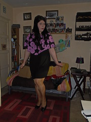 New Dress (Misses Magpie) Tags: shinypantyhose tantights blackdress nudepantyhose hosiery tights pantyhose