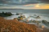 Early evening light - Milford on Sea (Explored) (C Sinclair) Tags: milfordonsea isleofwight seascape longexposure shore rocks tide beach