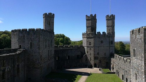 Caernarfon Castle - Well Tower to the Eagle Tower