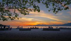 Kits Beach Sunset (Jonathan F.V.) Tags: kitsilano beach vancity vancouver sunset beautifulbc explorebc explorecanada summer