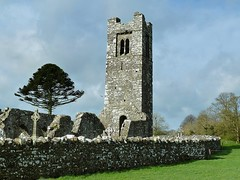 Slane Abbey, Hill of Slane - County Meath RoI (Ron's travel site) Tags: tower ruin slaneabbey abbey slanehill slane countymeath meath ireland roi erie europe ronstavelsite wwwronsspotuk 150418