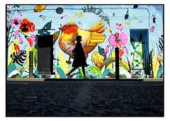 STREET ART by MILO T CHAIS (StockCarPete) Tags: milotchais streetart londonstreetart urbanart graffiti birds flowers summer wallart spraycanart london bricklane lowpov brickart uk