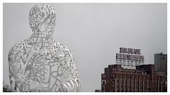 Bienvenue à Montréal /Welcome to Montreal (Joanne Levesque) Tags: artpublic source publicart farinefiveroses urbanlandscape paysageurbain enseigne sign montreal landmark jaumeplensa
