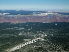 Grand Canyon Airport, Arizona GCN/KGCN (Jaws300) Tags: americanchecktransport flyingscenery fromabove unitedstates kodak aerial landscape turboprop propeller flightline act deuce canyon national park winter usa us n35rr cargo freight freighter mitsubishi mu2 mu2b mu2b60 marquise airport american check flying tusayan grandcanyonnationalpark nationalpark scenery ricerocket southwest united states america rockymountains rocky mountains mountain snow snowcapped cap snowymountains snowy snowcappedmountains redrocks airplane aircraft ramp apron parking gate terminal grand arizona havasupai nation reservation above aloft green tree trees
