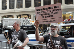 drumout (greenelent) Tags: notrump protest demonstration riseandresist streets people activists nyc newyork