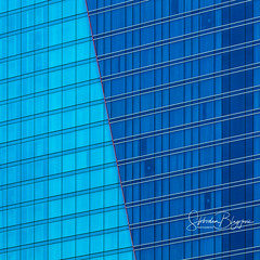 Crossing the red Line (Slobodan Blagojevic) Tags: chicago marriott hotel architecture abstract graphic windows